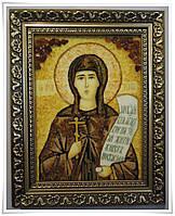 Икона Ксения из янтаря