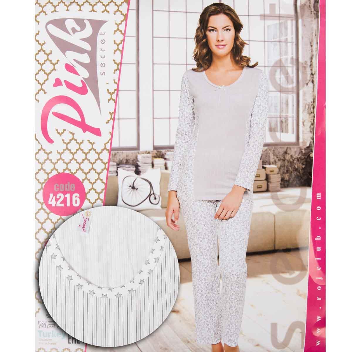Комплект женский узорный (штаны и кофта) Pink Secret Турция PK4216