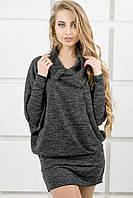 Женское платье-туника летучая мышь Шерли / размер 44-54 / цвет черный