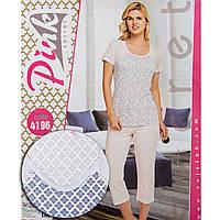 Комплект женский узорный (футболка и бриджи) Pink Secret Турция PK4196-1