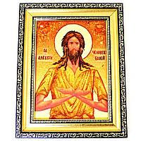 Икона Алексей из янтаря