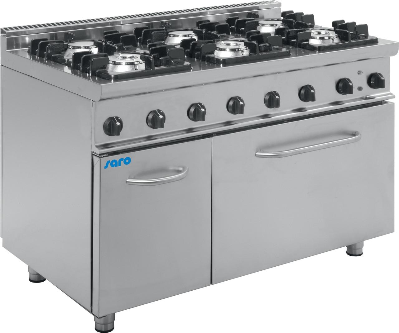 Газовая плита с газовкой духовкой E7 / KUPG6LN Saro