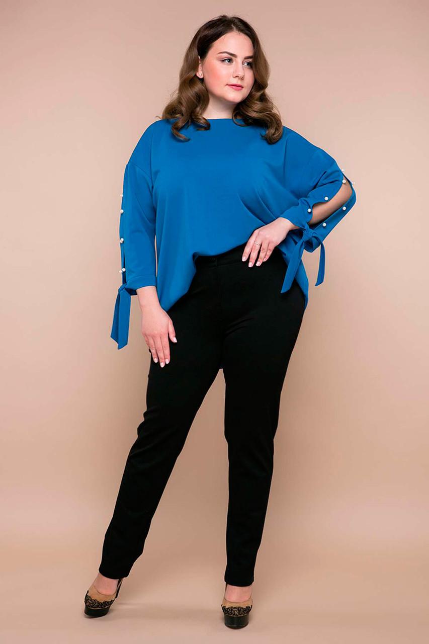 Черные теплые брюки для полных женщин Роуз