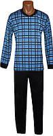 Пижама теплая для мальчика подростка 03207 Комби Начес Клетка, р.р.40-42