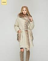 Пальто из итальянской варенной шерсти с чернобуркой 44-52рр