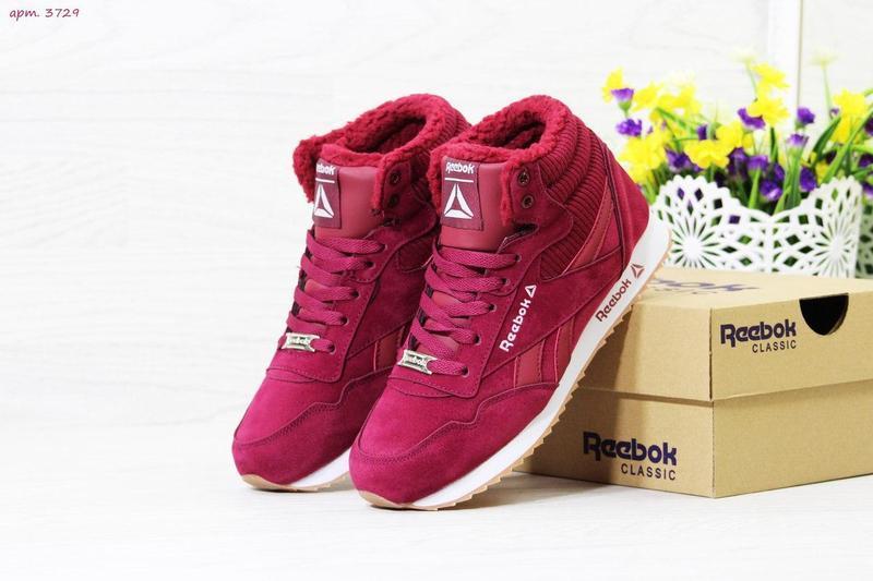 b1d1490237ccb8 Жіночі зимові кросівки Reebok (3729) бордові