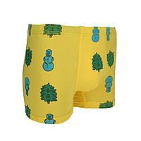 Трусы-боксеры мужские #happy_deer Snowman M Yellow