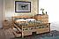 Кровать деревянная двуспальная Ретро с ковкой и высоким изножьем, фото 9