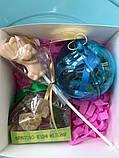 Новогодний прозрачный разъемный шар для конфет, фото 7
