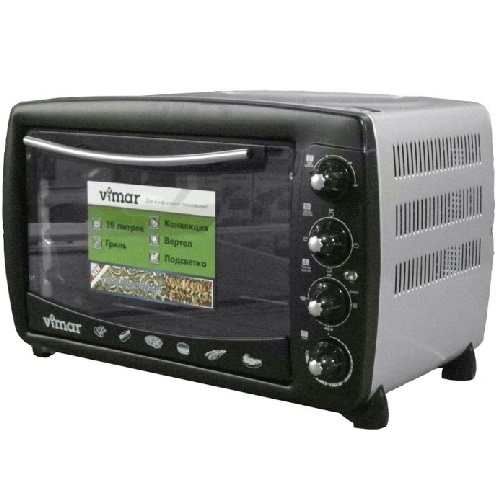 Духовка електрична VIMAR VEO - 3922 на 39 літрів , шашличниця + гриль + конвекція + підсвітка