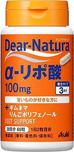 Diar Natura α-ліпоєва кислота (100 мг) + екстракт Джимнема + яблучні поліфеноли 60 таб