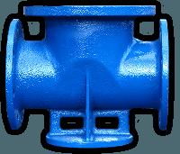 Подставка под гидрант проходная (двойная) чугун/сталь ДУ100/300 ППДФ