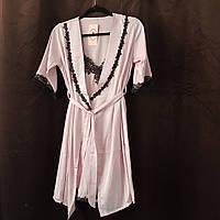 Женская ночная сорочка+халат. Кружево- 318-04