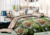 Полуторный комплект постельного белья 150*220 из ранфорса Розали