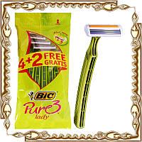 Станки для бритья Bic PURE 3 Lady 4+2 шт./уп.