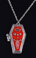 Кулон медальон гробик открывающийся