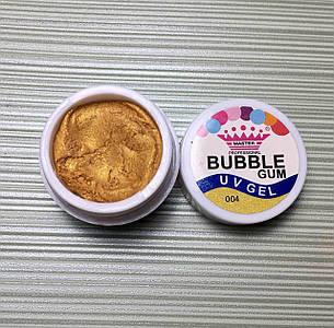 Гель - жвачка Bubble Gum, Master Professional, 5 г, №4 золото