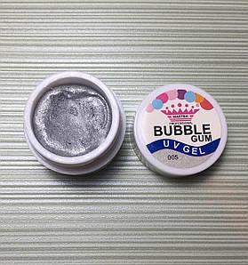 Гель-жвачка Bubble Gum, Master Professional № 5, серебро, 5 г