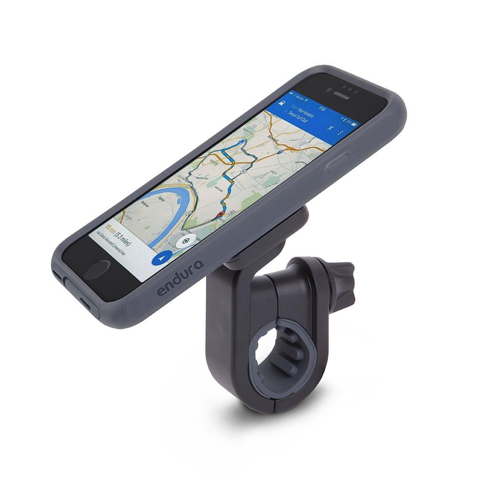 Комплект спорт и экстрим Moshi Biking Kit (чехол Endura + держатель Handlebar Mount) для Apple iPhone 7 чёрный