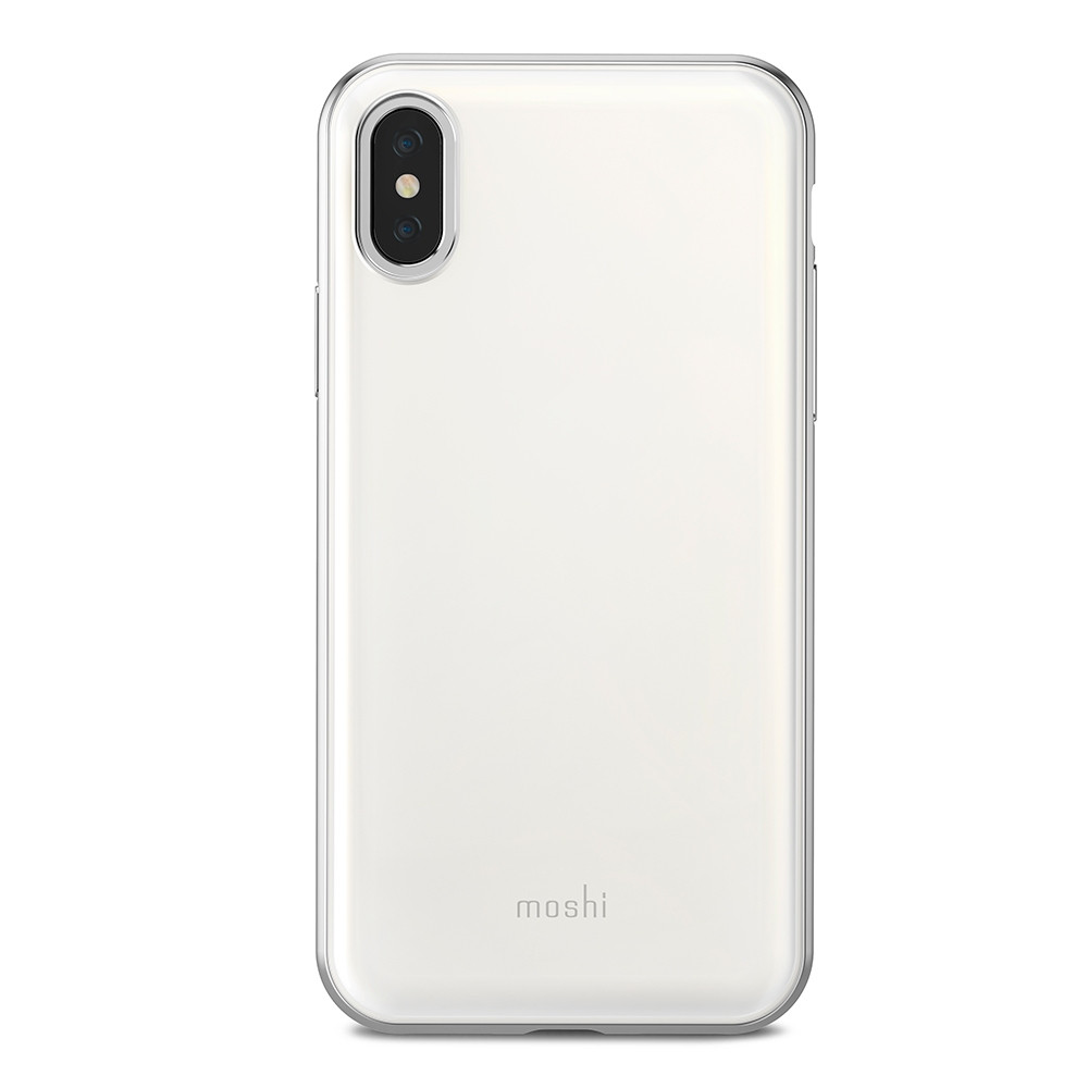 Чехол-накладка Moshi iGlaze для Apple iPhone X белый