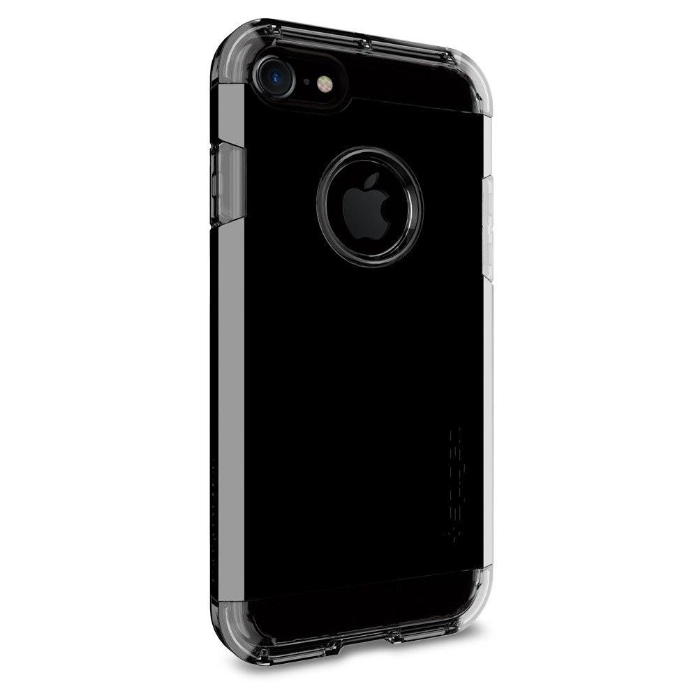 Чехол-накладка Spigen Tough Armor для Apple iPhone 7 чёрный, глянцевый