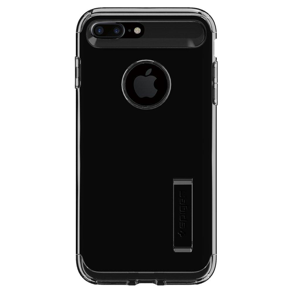 Чехол-накладка Spigen Slim Armor для Apple iPhone 7 Plus чёрный, глянцевый