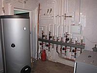Монтаж системы отопления под твердотопливный котел. Киев и область