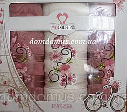 """Подарочный набор полотенец """"Isabella"""" (баня+2 лица) TWO DOLPHINS, Турция 0170"""