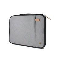 """Чехол-конверт PKG LS01 для ноутбуков 15"""", серый"""