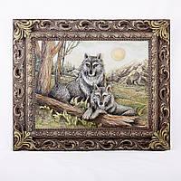 Картина объемная с парой волков