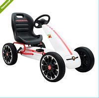 Детский карт M 3659 E-1, мягкие EVA колеса, белый ***