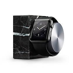 Подставка Native Union Dock Marble Edition для Apple Watch чёрная