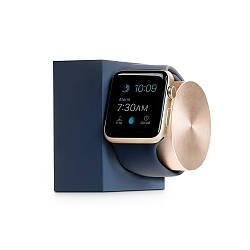 Подставка Native Union Dock для Apple Watch синяя, золотистая