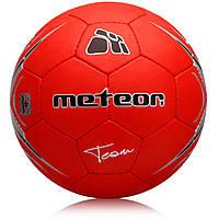 М'яч футбольний Meteor Team Red #5 Червоний Еко шкіра (00079)