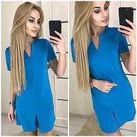 Платье голубое легкое