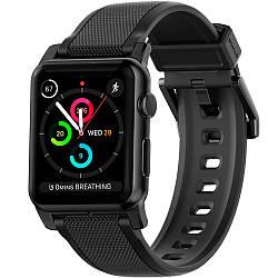 Силиконовый ремешок Nomad Vulcanized LSR Silicone Strap для Apple Watch чёрный