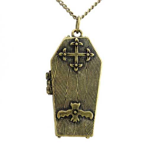 Кулон медальон гроб с секретом