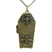 Кулон медальон гроб с секретом Алхими Готик