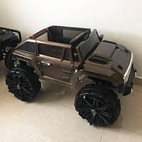 Детский электромобиль Hummer  M 3570 EBLRS-17, автопокраска,  колеса EVA, коричневый