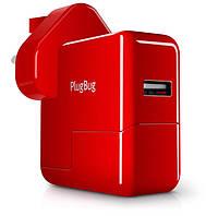 Сетевое зарядное устройство Twelvesouth PlugBug World для Apple iPhone/iPod/iPad mini/iPad/MacBook 2.1А красное