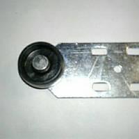2668ea8ff16891 Ролик мебельный чёрный с боковым креплением прямой, диванный (Ф-36 мм)