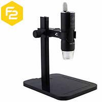 USB Микроскоп цифровой с увеличением до 500Х LED подсветкой на штативе, DM-500S