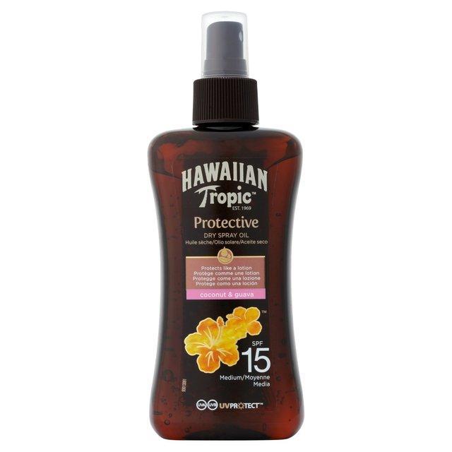 Водостойкое масло для загара Hawaiian Tropic Protection Dry Spray Oil, SPF 15