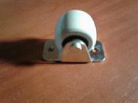 Ролик мебельный серый бочёнком, с прямым креплением, усиленное (Ф-30 мм)
