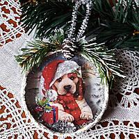 Елочная игрушка Символ 2018 года Собака  Подарки ручной работы на новый год 2018
