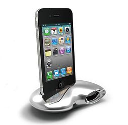 Док-станция Ozaki iSuppli Nautilus для Apple iPhone 4/4S серебристая