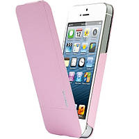 Чехол-флиппер Ozaki O!coat Aim High для Apple iPhone SE/5/5S розовый