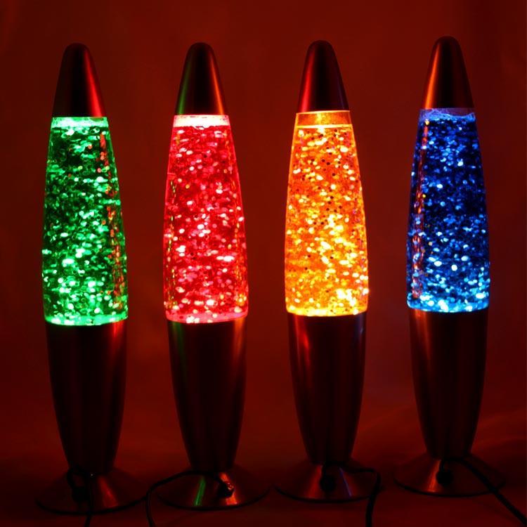 """Ночник-светильник """"Лавовая лампа"""" с блёсками 35 см"""