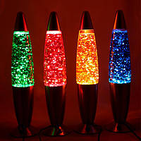 """Ночник-светильник """"Лавовая лампа"""" с блёсками 35 см, фото 1"""