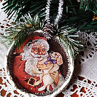 Игрушка на елку Подвеска медальон на елку Подарки ручной работы на новый год